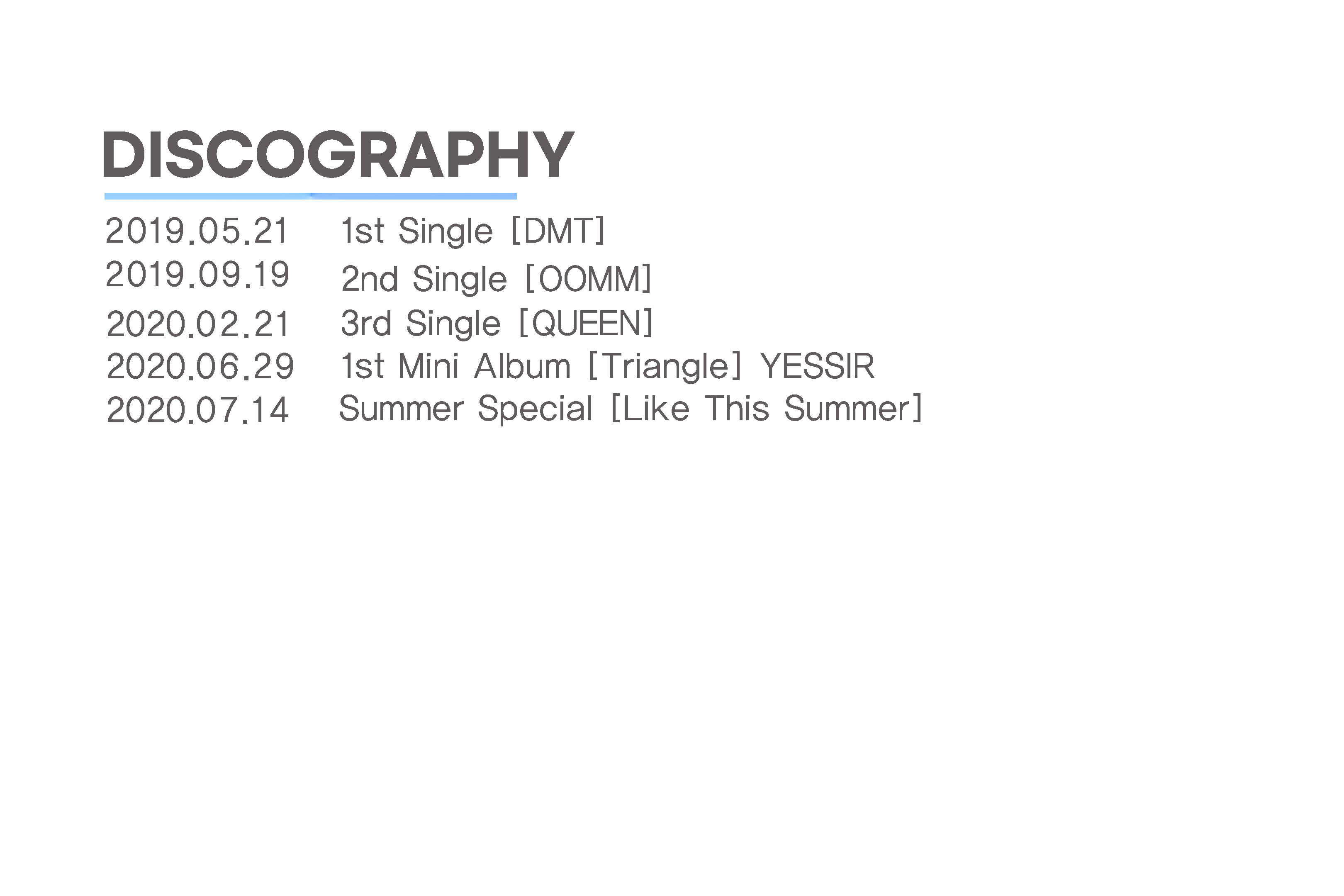 YURIM-DISCOGRAPHY